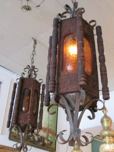 Two rustic hacienda style chandeliers mexican iron and for Hacienda style lighting