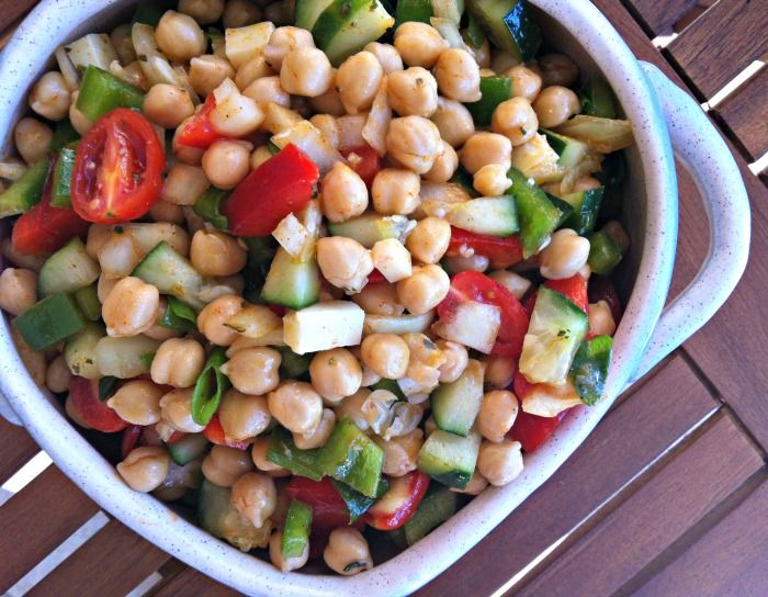 Mediterranean Chickpea Salad with Lemon Vinaigrette | Recipe