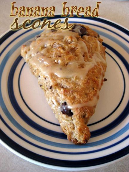 Banana Bread Scones with Brown Butter Glaze