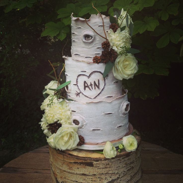tree like wedding cakes | Aspen tree inspired wedding cake. | Wedding ...