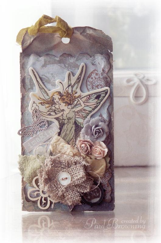 The Artsiders tag altered burlap flower