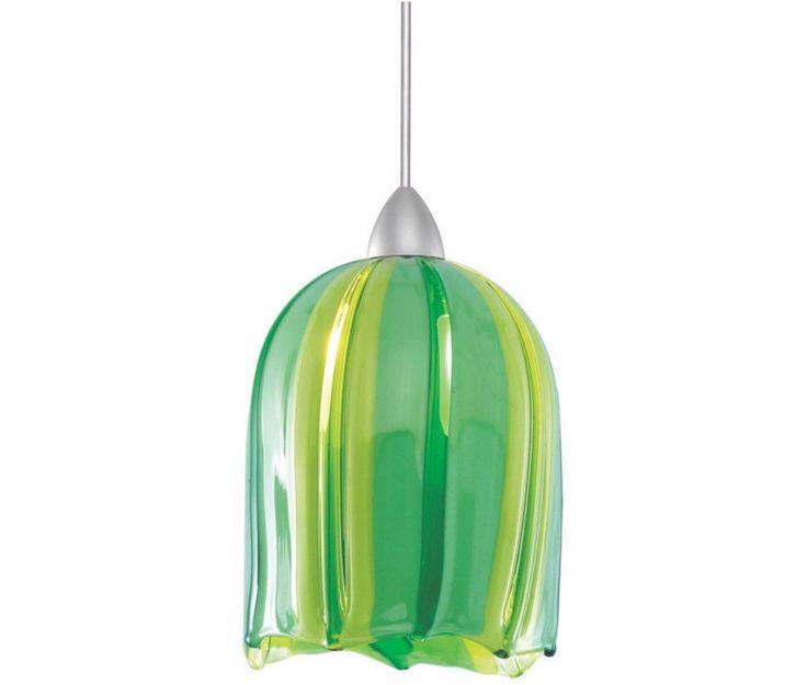 Green/yellow Glass Pendant Light