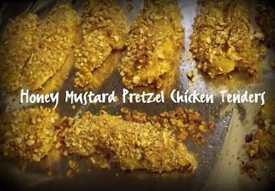 Honey Mustard Pretzel Chicken Tenders. Tender and flavorful and won't ...