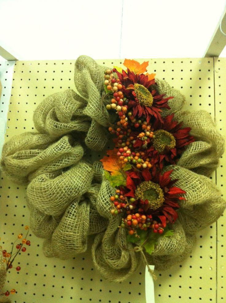 decorating with burlap fall burlap wreath halloween and fall decor