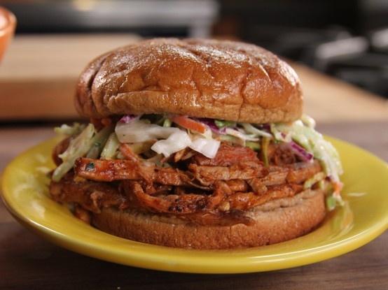 Sweet & Spicy Pulled Pork & Slaw Sandwich @Cooking Channel (pork ...