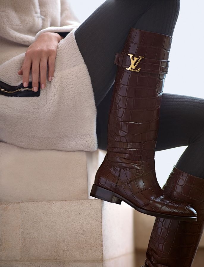 Louis Vuitton long brown boots