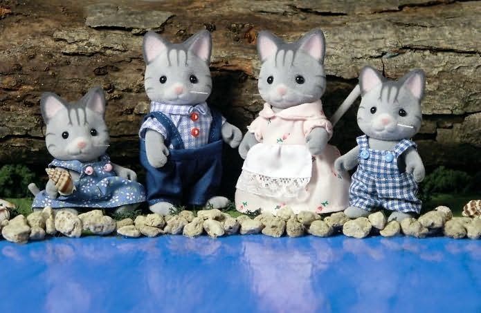Calico Critters Fisher Cat Family | Sylvanian Families / Calico Critters | Pinterest
