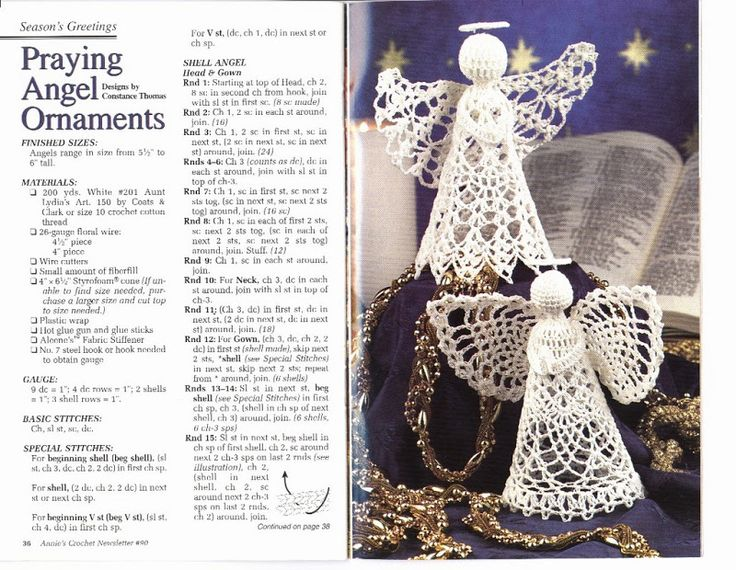 Annies Crochet Newsletter No. 90 Christmas and Angels Pinterest