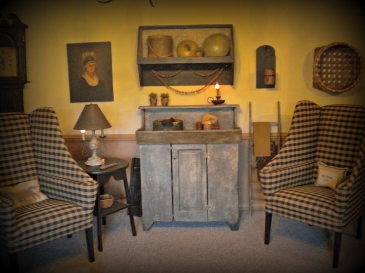 Living room primitive decor pinterest for Primitive country living room ideas
