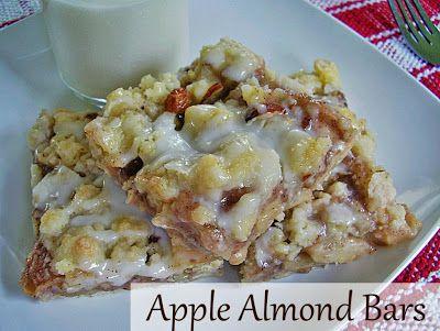 Apple Almond Bars! | Yummy food | Pinterest