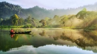 Beautiful Morning at Situ Gunung  © Arnov Setyanto