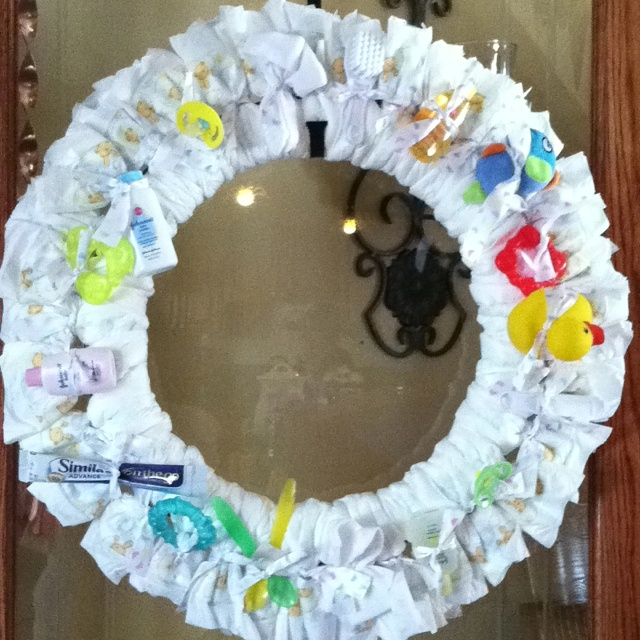 baby shower diaper wreath baby showers pinterest