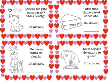 free valentines day cards in spanish