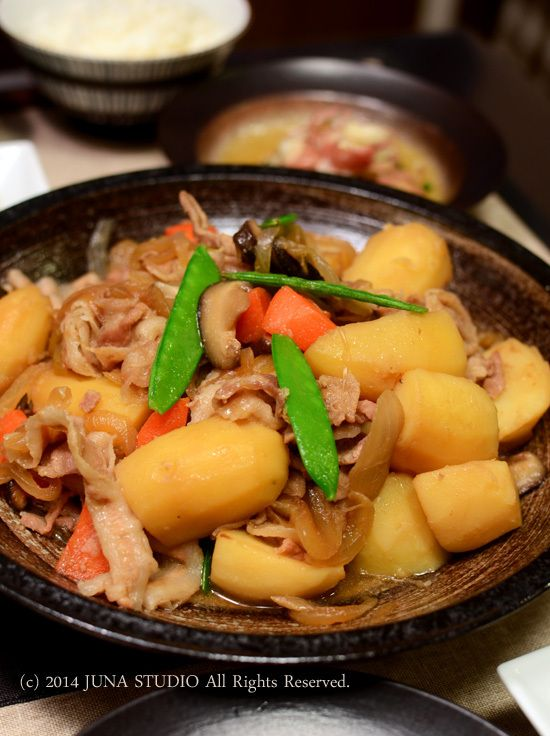 ... soul foods: Japanese Nikujaga, Simmered Meat and Potatoes 肉じゃが