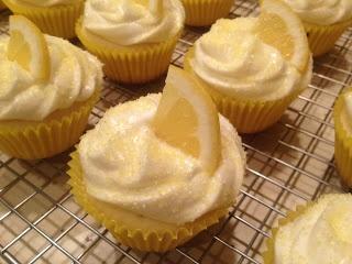 Limoncello Cupcakes - A trip to Italy