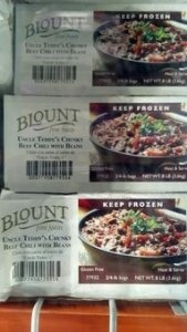 Blount: Uncle Teddy's Chunky Beef Chili with Beans 2/4 Lb.