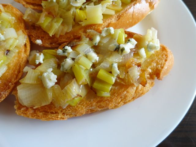 "From ""Leek Toasts with Blue Cheese"" story by AliciaDaner on Storify..."