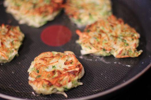 Zucchini and Potato Latkes   food   Pinterest