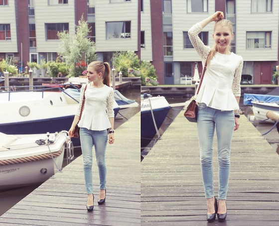 Boating in peplum and lace (by Rachella K.) http://lookbook.nu/look/3724021-Boating-in-peplum-and-lace