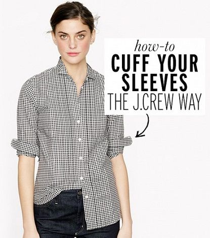 exPress-o: How To Cuff Your Sleeves J.Crew Style.