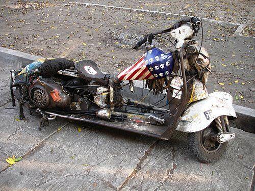 Mini Bike Junkyard : A junk scooter s go carts mini bikes golf