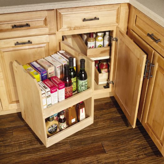 Swing Out To Get Max Use Out Of That Blind Corner Kitchen Cabinet