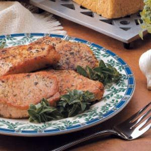 Herbed Pork Chops (sub olive oil for vegetable oil that recipe calls ...