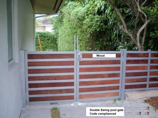 Miami Iron Work Pool Gate Wood And Metal Gardens I Love