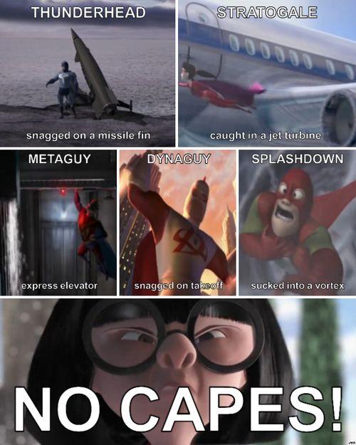 NO CAPES!!