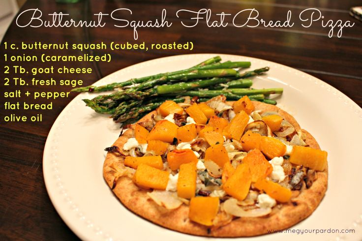 Butternut Squash (with caramelized onion) Flat Bread Pizza