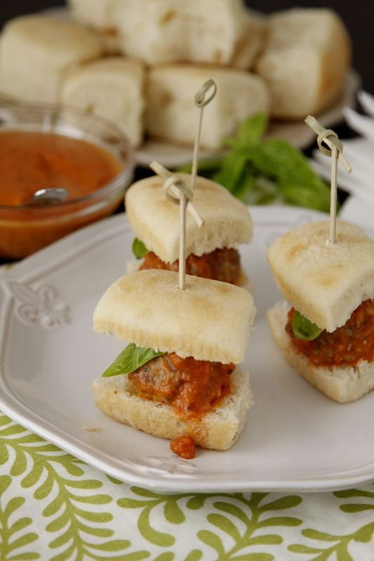 Slow Cooker Mini Meatball Sliders | Recipe
