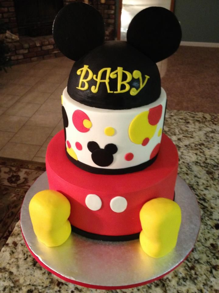 Mickey Mouse Baby Shower Cake Images : MIckey Mouse Baby Cake My Cakes Pinterest