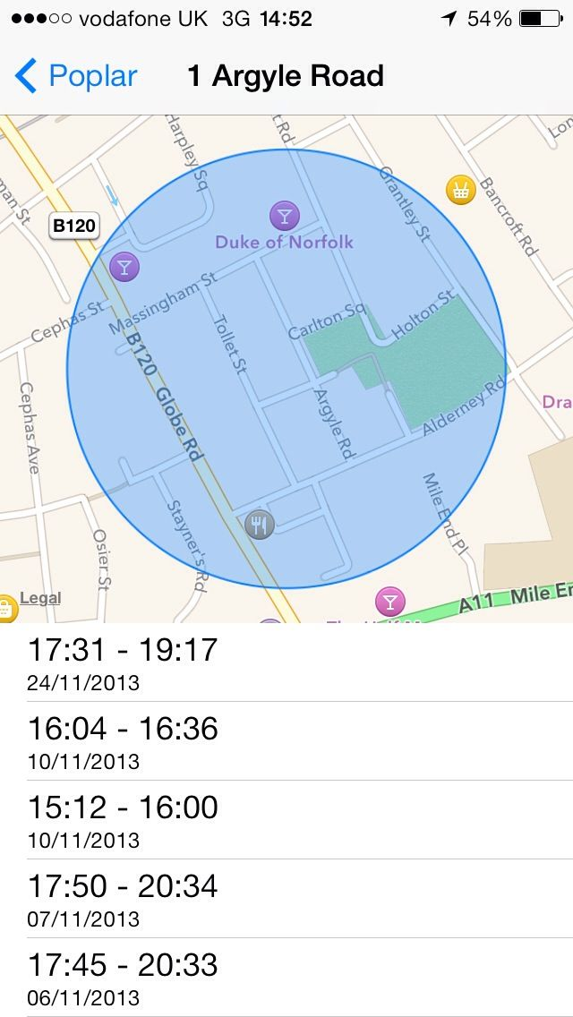 iphone location history export