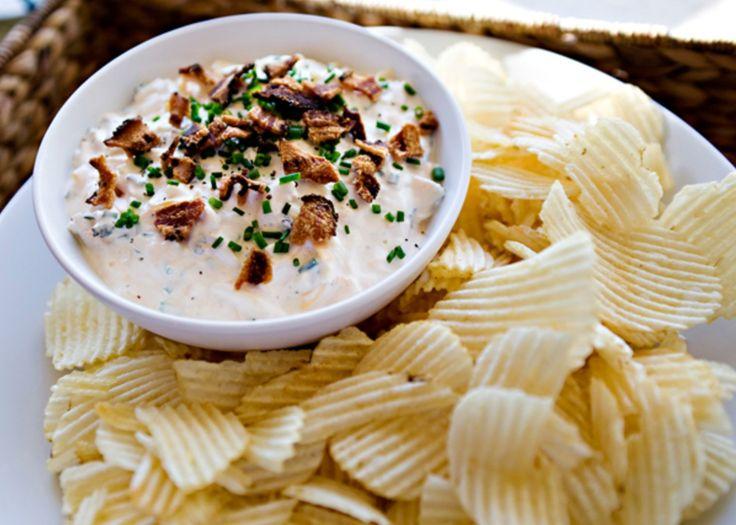 loaded baked potato dip recipe | Chips & Dips | Pinterest