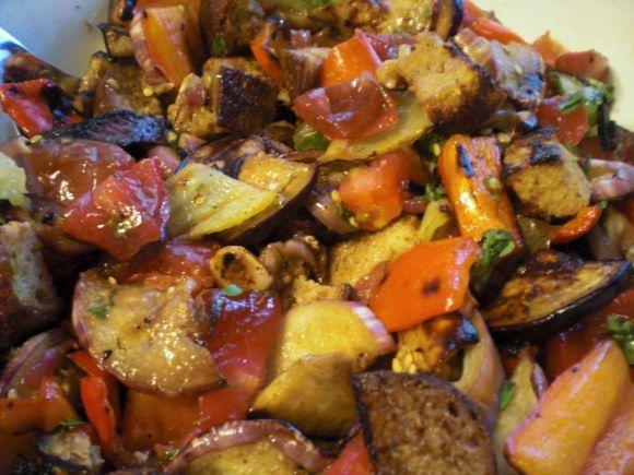 Grilled vegetable panzanella | Recipes | Pinterest