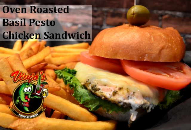 Oven Roasted Basil Pesto Chicken Sandwich - Basil Pesto Chicken ...