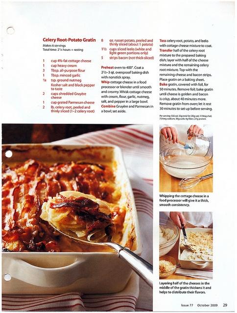 Celery root-potato gratin | FOOD - Low Carb | Pinterest