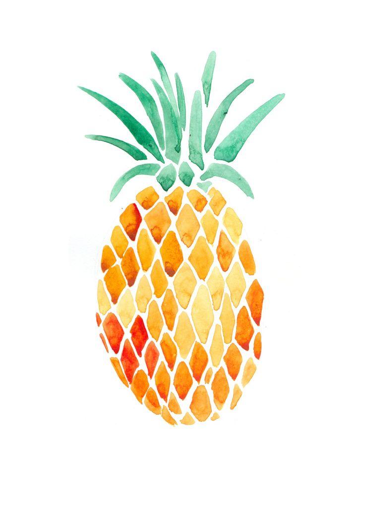 painted pineapple art amp illustrations pinterest