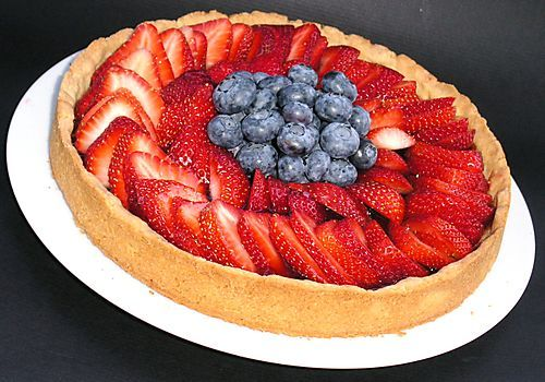 Fresh Strawberry/Blueberry Tart | Party Like a Patriot | Pinterest