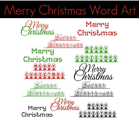 Christmas Word Art Collection Merry Christmas 12 by ChangingVases, $2 ...