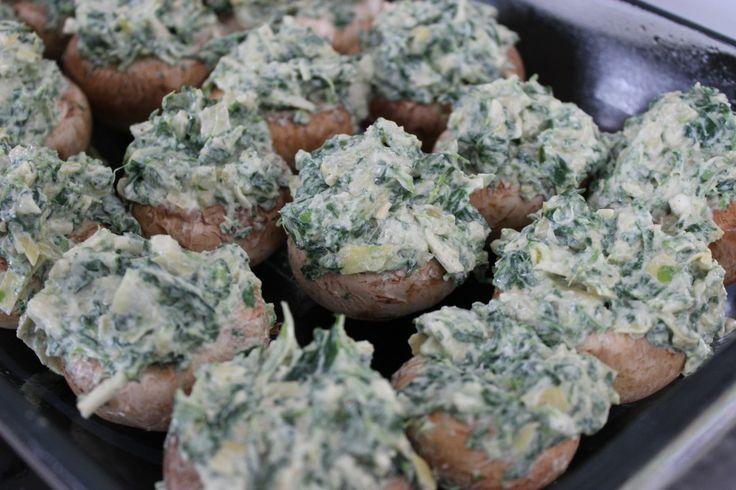 ... Artichoke Stuffed Mushrooms #vegan #glutenfree from The Gluten Free