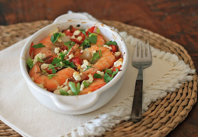 Baked Shrimp with Tomatoes and Feta- a popular dish from the fish ...