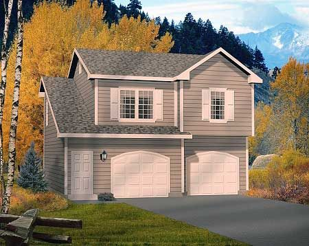 Two car garage apartment Double garage with room above
