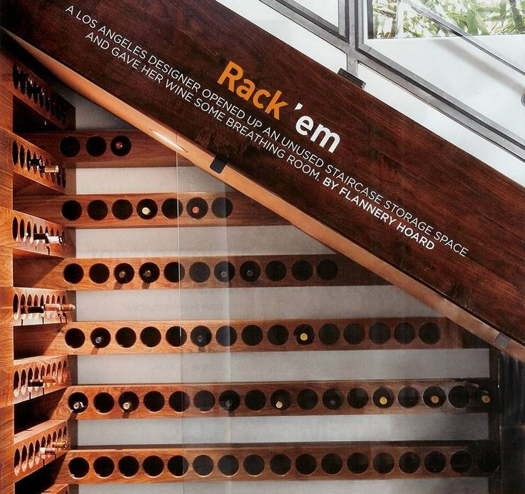 Wine Rack Under The Stairs Perfect Friends Pinterest