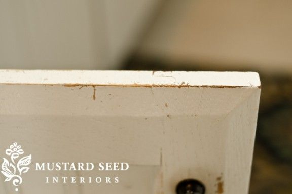 How Miss Mustard Seed's painted cabinets have held up over time, plus