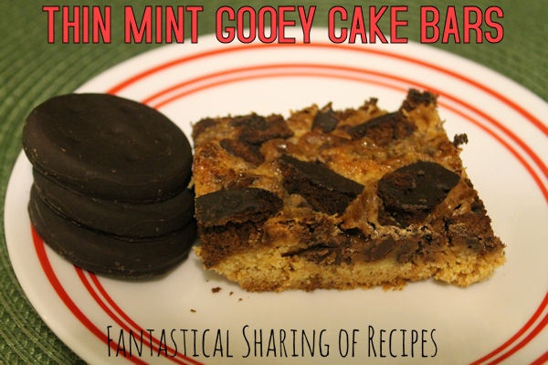 Thin Mint Gooey Cake Bars | Yellow cake + Thin Mints = chewy, gooey ...