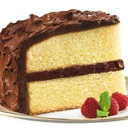 Duncan Heines Butter Golden Cake w/chocolate frosting - my favorite ...