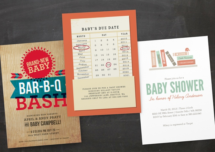 new invitation designs by Minted