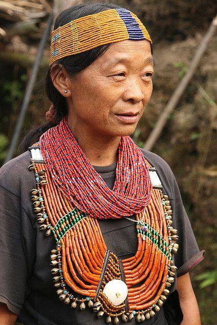 India - Nagaland | Konyak Naga woman at Chui village. |  © Walter Callens