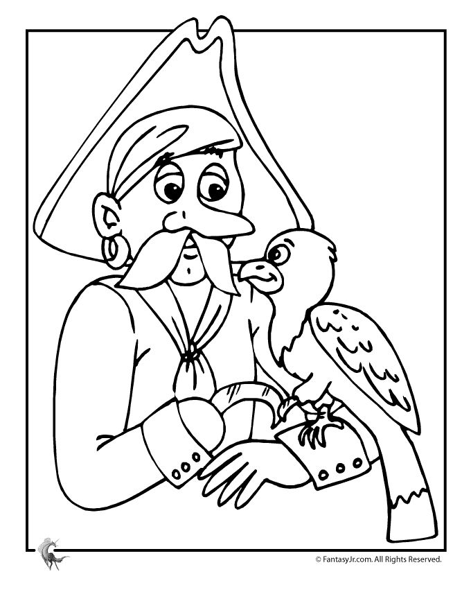 pittsburgh pirate parrot coloring page coloring pages - Pittsburgh Pirates Coloring Pages